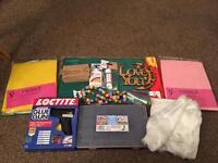 Huge arts & crafts bundle. All brand new. Glue gun,wooden plaques,A3 tech mat,Felt & much more!!