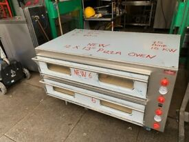 """NEW ITALIAN 2 DECK PIZZA OVEN 12X 13"""" CATERING COMMERCIAL KITCHEN FAST FOOD"""