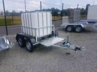 Galvanised Mobile IBC water tank trailer