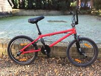 "OLD SCHOOL BMX FOR SALE - RED AND BLACK 20"" WHEELS - GOOD CONDITION"