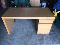 IKEA desk in oak