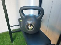 Bench brand new 16kg kettlebell