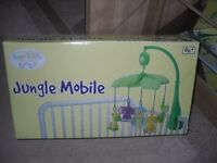 Beanstalk baby, Jungle Cot mobile.