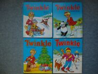 4 Vintage 'Twinkle specially for little girls' Annuals/Books - 85/88/89/91