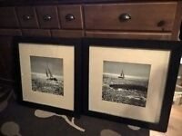 Framed boat pictures