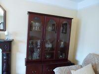 large 3 door glass unit
