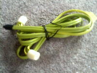 PAIR OF GREEN STETHOSCOPE STYLE IN-EAR HEADPHONES WITH SPECIAL CONNECT