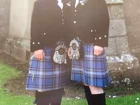 Gents Traditional Made to Measure Kilts in Peterhead's own Blue Toon Tartan