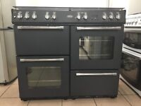 Belling range dual fuel gas cooker 100dft 100cm black FSD double oven 3 months warranty !!!!!!!