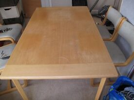 Dining Room Table & Set of 6 Chairs