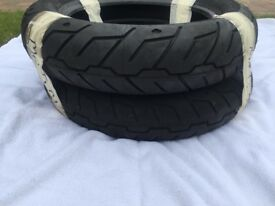 "TYRES – MICHELIN SCORCHER ""31"" – BRANDED HARLEY DAVIDSON – FRONT & REAR - NEW & UNUSED"