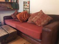 TETRAD VINTAGE LEATHER SOFA BED OR SOFA