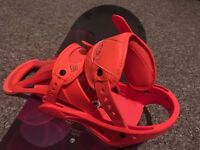 Burton Feather Snowboard and Burton Freestyle Bindings