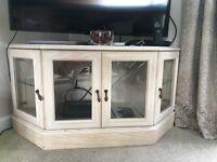Light Oak Corner TV Unit & Corner display cabinet