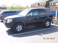 landrover freelander bull bar & 5 all terrain tyres with wheels - note vehicle is not for sale