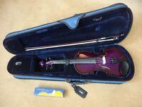 Violin 3/4 size purple