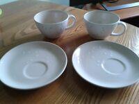 Fairmont Main Mimosa cup & saucer (pair)