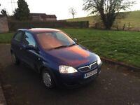 53 Vauxhall corsa 1.2 blue 3 doors long mot low tax low insurance low to run £495