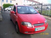 daewoo kalos 1.2 1 year mot with low milage good condition £675ono