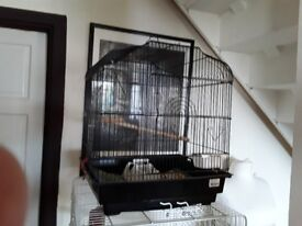 BRAND NEW BUDGIE CAGE WITH PACK UNOPENED SANDED SHEETS
