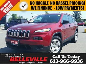 2015 Jeep Cherokee one Owner - Heated Seats - Remote Start - Blu