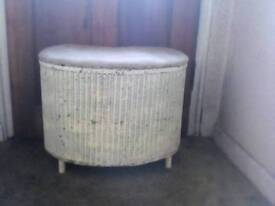 WHITE OTTOMAN CHEST