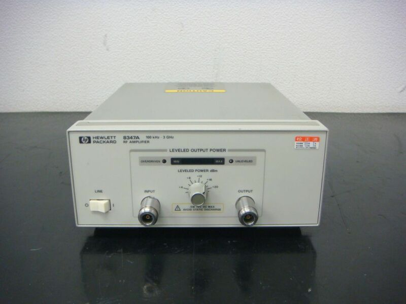 Hp 8347a 100khz-3ghz 25db Wide Band Amplifire