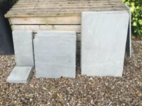 Natural grey patio Slabs (Brand New) left over from project, various sizes see below
