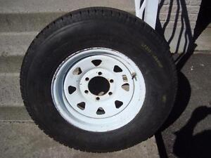 """1-LT 215 85 16 Range E Goodyear Wrangler H/T on a OEM  White Trailer rim 6-139.7=16"""""""