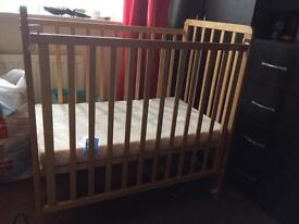 Small cot and matress