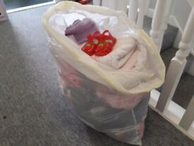 Large bag of girls 6-9months clothes