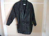 LADIES LEATHER JACKET, CLASSIC WOMAN BLACK SIZE 12