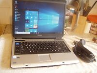 Toshiba Sat Pro A100 Laptop: 250GB : Dual Core 1.86Ghz : 1GB RAM : Win 10 : Activated Office 2007