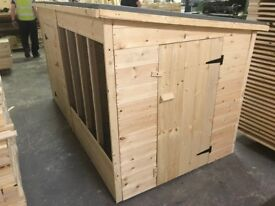 8ft Wooden Dog Kennel & Run