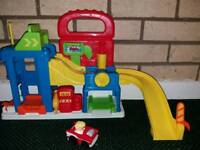 little people toy garage and car