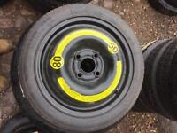 BRAND NEW SPARE SPACE SAVER WHEEL 14INCH 4 STUD AUDI A2