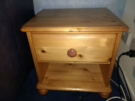 PINE Bedside Table / Drawers / Cabinet - Solid wood