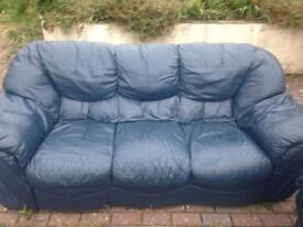 2 & 3 seater settee leather