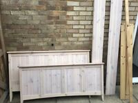 Double Bed Frame - Whitewashed