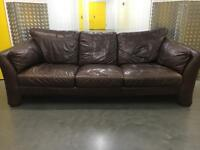 Genuine leather stylish 3 seater sofa •free delivery
