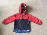 Next boys lined rain jacket age 2-3 years