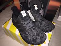 Black Sliver Ultraboost 3.0, Size 9, Brand New