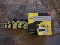 £240 forfull Yale alarm system with 3 movement detectors, 1 remote keypad & 1 one keychain keypad