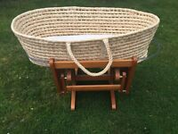 Moses Basket & Gliding/Rocking stand for collection only