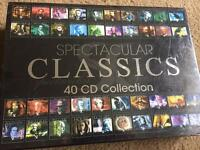 NEW Spectacular Classics 40 CD Collection RRP £75 - ideal Father's Day gift