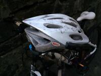 Scott mountain bike plus bell helmet