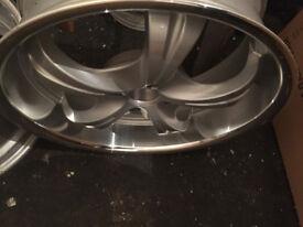 "Deep dish Alloy wheels 17"" inch Peugeot 309 405 406 coupe partner Saab 900 9000 alloys wheel"