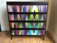 Upcycle spray painted chest of drawers