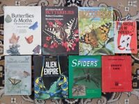 BUTTERFLYS BOOKS & OTHER INSECT BOOKS - JOB LOT - VGC. SEE MORE IMAGES / DETAILS