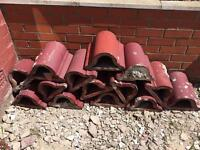 14 Old clay coping stones